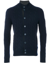 Cardigan lavorato a maglia blu scuro