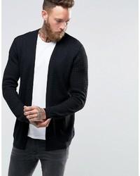 Cardigan lavorato a maglia nero di Asos