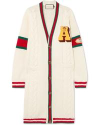 Cardigan lungo bianco di Gucci