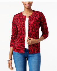 Cardigan stampato rosso