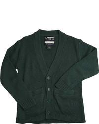 Cardigan verde scuro