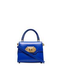 Cartella in pelle blu di Dolce & Gabbana