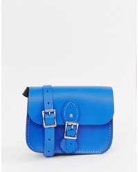 Cartella in pelle blu di Leather Satchel Company