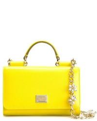 Cartella in pelle gialla di Dolce & Gabbana