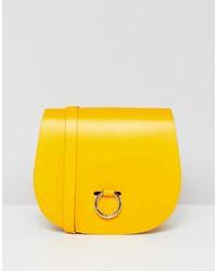 Cartella in pelle gialla di Leather Satchel Company