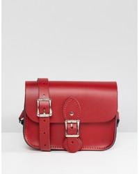 Cartella in pelle rossa di Leather Satchel Company