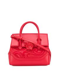 Cartella in pelle rossa di Versace