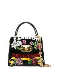 Cartella in pelle scamosciata nera di Dolce & Gabbana