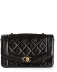Cartella in pelle trapuntata nera di Chanel