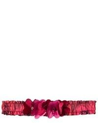 Cerchietto a fiori rosso