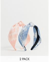 Cerchietto effetto tie-dye azzurro di Stradivarius