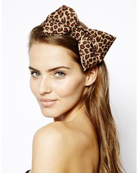 Cerchietto leopardato marrone di Johnny Loves Rosie