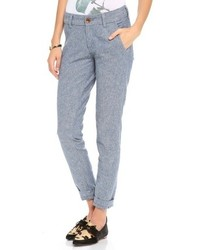 Pantaloni chino azzurri