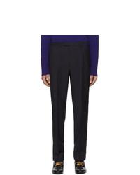 Chino di lana blu scuro di Gucci