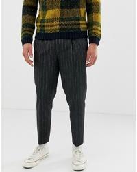 Chino di lana grigio scuro di ASOS DESIGN
