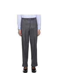 Chino di lana grigio scuro di Gucci