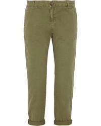 Pantaloni chino verde oliva