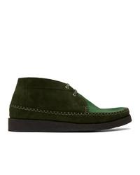 Chukka in pelle scamosciata verde scuro di Comme des Garcons Homme Deux