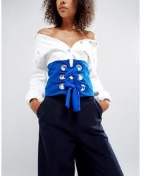 Cintura a vita alta blu di ASOS DESIGN