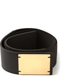 Cintura a vita alta elasticizzata nera e dorata