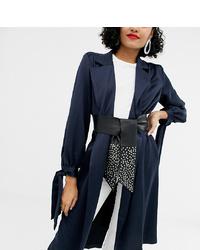 Cintura a vita alta in pelle con borchie nera di Retro Luxe London