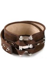 Cintura a vita alta in pelle marrone scuro di Givenchy