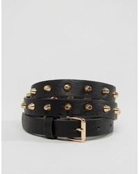 Cintura con borchie nera di Vero Moda
