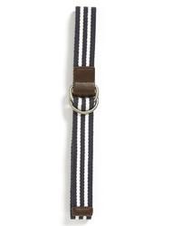 Cintura di tela a righe orizzontali blu scuro