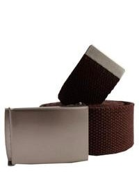 Cintura di tela marrone scuro