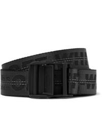 Cintura di tela nera di Off-White