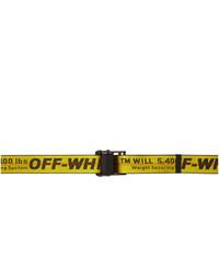 Cintura di tela senape di Off-White