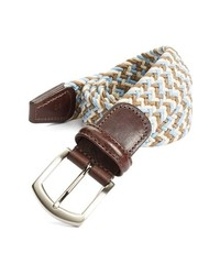 Cintura di tela tessuta beige