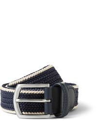 Cintura di tela tessuta blu scuro