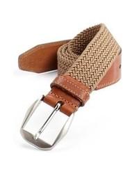 Cintura di tela tessuta marrone chiaro