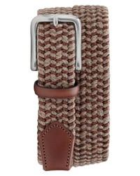 Cintura di tela tessuta marrone