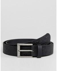 Cintura in pelle a fiori nera di Asos