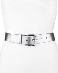 Cintura in pelle argento