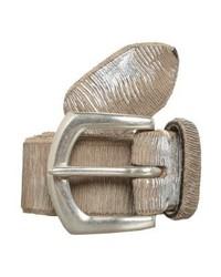 Cintura in pelle argento di B.Belt