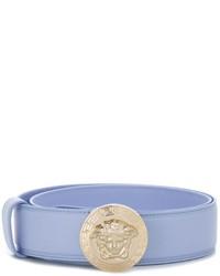 Cintura in pelle azzurra di Versace
