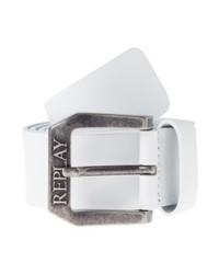 Cintura in pelle bianca di Replay