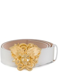 Cintura in pelle bianca di Versace