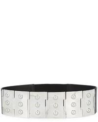 Cintura in pelle con borchie argento di Maison Margiela