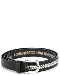 Cintura in pelle con borchie nera di Eleventy