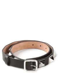 Cintura in pelle con borchie nera di Givenchy