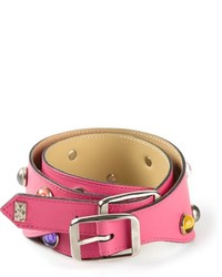Cintura in pelle fucsia di Saint Laurent