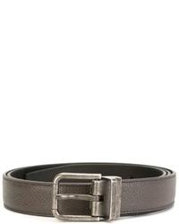 Cintura in pelle grigia di Dolce & Gabbana