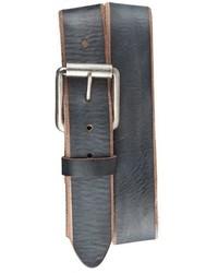 Cintura in pelle grigio scuro