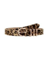 Cintura in pelle leopardata marrone chiaro di Missguided