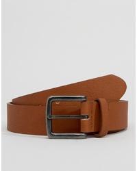 Cintura in pelle marrone chiaro di ASOS DESIGN