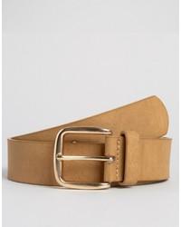 Cintura in pelle marrone chiaro di Asos